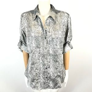 Calvin Klein Blouse Shirt Button Front